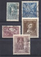 HONGRIE (POSTE) : Y&T N°  319/323  TIMBRES  BIEN  OBLITERES . - Hongrie
