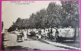 Cpa Ver Sur Mer Ecole Des Filles Avenue Paul Pons Rare Carte Postale 14 Calvados Proche Courseulles Arromanches - France