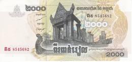 BILLETE DE CAMBOYA DE 2000 RIELS DEL AÑO 2007 SIN CIRCULAR-UNCIRCULATED (BANKNOTE) - Cambodia