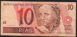 BRAZIL P245j 10 REAIS (1994)  # A9145....C  Signature 25   AVF NO P.h. ! - Brésil