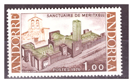 ANDORRA FR. -  1976 - NUOVO SANTUARIO DI MERITXELL.  - MNH** - French Andorra
