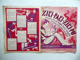 Spartito Ziki Paki Ziki Pu Vittorio Mascheroni P. Mendes Carisch Milano 1929 - Vecchi Documenti