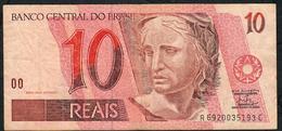 BRAZIL P245g 10 REAIS (1994)  # A6920....C  Signature 24   AVF NO P.h. ! - Brésil