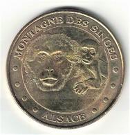 Monnaie De Paris 67.Kintzheim - Montagne Des Singes 6 - Mère Et Son Petit 2010 - Monnaie De Paris