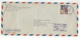1957 Registered GUATEMALA COVER To UN NY USA United Nation Stamps Cover Airmail - Guatemala