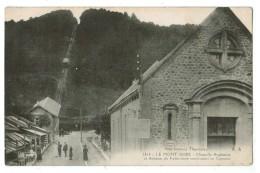 22667  CPA LE MONT DORE  : Chapelle Anglicane Et Avenue Du Funiculaire Conduisant Au Capucin ! 1921 ! ACHAT DIRECT - Le Mont Dore