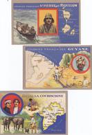 (22)    Lot De 3 Cartes Punaisées - France