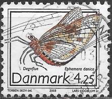 DENMARK 2003 Insects - 4k25 Mayfly (Ephemera Danica) FU - Gebraucht