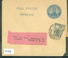 KRANTENBANDJE GELOPEN VAN ARGENTINIE NAAR BERLIN  (11.417) - Argentinië