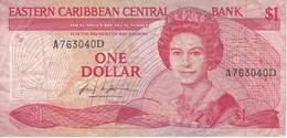 BILLETE DE EAST CARIBBEAN DE 1 DOLLAR DEL AÑO 1985  (BANKNOTE) - Caraïbes Orientales