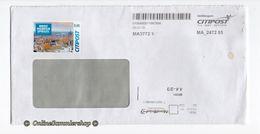 BRD - Privatpost - Umschlag -   Citipost - Marke: Briefmarkenspiegel - Privatpost