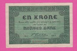 NORVEGE 1 Krone De 1917 Pick 13 - VF+ - Norwegen
