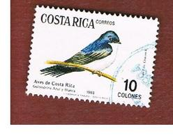COSTA RICA  -  SG 1337  -  1984  BIRDS: BLUE & WHITE SWALLOW    -  USED ° - Costa Rica