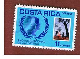 COSTA RICA  -  SG 1366  -  1985  INTERN. YOUTH YEAR   -  USED ° - Costa Rica