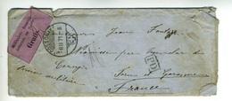 LTR2  Lettre 1871 Mlitaires  Français Internés En Suisse, Avec Sa Correspondance, Nombreux Cachets Au Dos (3 Scans) - Poststempel