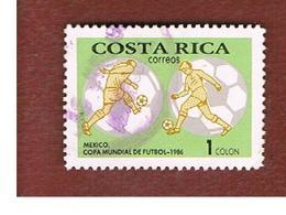 COSTA RICA  -  SG 1420  -  1986 WORLD CUP FOOTBALL   -  USED ° - Costa Rica