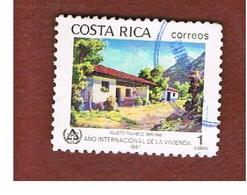 COSTA RICA  -  SG 1467  -  1987   INT. YEAR FOR HOMELESS   -  USED ° - Costa Rica