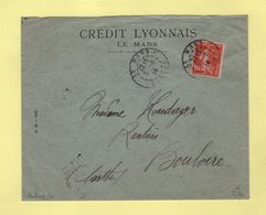 Type Semeuse - Perfore CL - Credit Lyonnais - Le Mans Sarthe - 3-6-1914 - 1877-1920: Période Semi Moderne
