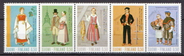Finland MNH Set In Strip Of 5 - Costumes