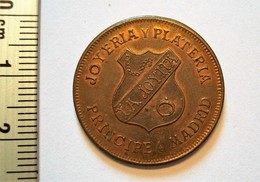 ESPAGNE. JETON PUBLICITE ALFONSO XIII 1906. MADRID. LA JOYITA. SPAIN. - Espagne