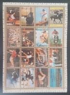 GL - AJMAN 1973 Mi. 2605A-2620A Munich Olympic Games DELUXE SHEET (Cartoon) PERFORATED - MNH - Ajman