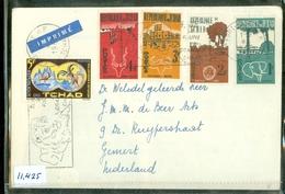 TCHAD * BRIEFOMSLAG GELOPEN In 1965 Van FORT-LAMY Naar GEMERT  (11.425) - Tsjaad (1960-...)