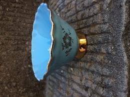Elegante Alzatina In Ceramica Azzura E Oro Anni 50 Pasquinucci Pisa - Ceramics & Pottery