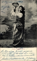 Cp Femme Comédienne Turque, Türkische Tänzerin Mit Tamburin - Cartoline