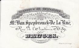 Bruges Brugge Porseleinkaart Carte Porcelaine,  Fabrique De Dentelles, Mme. Van Speybrouck-de La Rue, Rue De L`Academie - Brugge