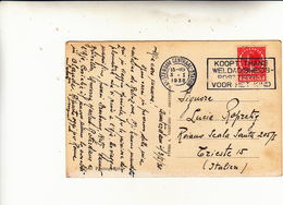 Amsterdam To Trieste, Post Card 1930 - Covers & Documents