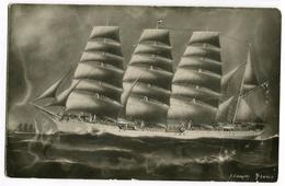 England Finland Russia Sailing Ships Painting Bark Fennia Fennia. Clean - Velieri