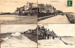 Lot De 4 CPA Sur Paramé (35400)  Dos Divisés - Voir Tous Les Scans. Années 1910 à 1930 - Parame