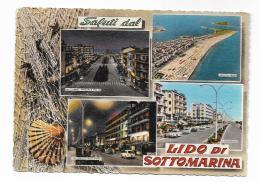 SALUTI DAL LIDO DI SOTTOMARINA  - VIAGGIATA FG - Rovigo