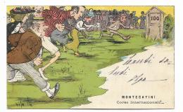 MONTECATINI - CORSE INTERNAZIONALI ! 1906 - ILLUSTRATA  - VIAGGIATA FP - Pistoia