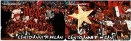 SERIE SCHEDE TELEFONICHE NUOVE RSM 39-40  100 ANNI MILAN - San Marino