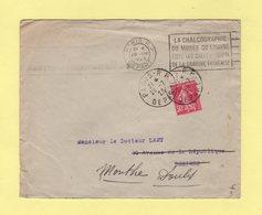 Type Semeuse - Timbre Non Annule Par Flier Paris RP Depart - Obliteration Paris RP Depart - 29-7-1925 - 1877-1920: Période Semi Moderne