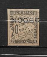 Colonie  D'Obock Timbre Taxe De 1892 N°12a (surcht Renversée) Neufs * Cote 320€ - Obock (1892-1899)