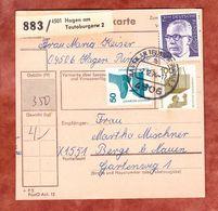 Paketkartenteil, MiF Heinemann + Unfallverhuetung, Hagen Nach Berge 1974 (57357) - BRD