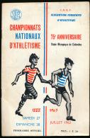 SPORT, ATHLETISME : Programme Officiel Des Championnats De France, Juillet 1963, Stade Olympique De Colombes, 24 Pages - Athletics