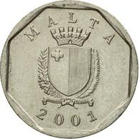Monnaie, Malte, 5 Cents, 2001, TTB, Copper-nickel, KM:95 - Malte