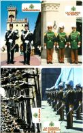SERIE SCHEDE TELEFONICHE NUOVE RSM 72-5 CORPI MILITARI SANMARINESI - San Marino