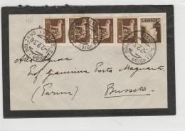 LETTERA 1934 CON 4X5+10 CENT TIMBRO BOLZANO S.CANDIDO+4X5 AL VERSO -BUSSETO PARMA (Z1090 - 1900-44 Vittorio Emanuele III