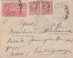 ESPRESSO 1917 CON CENT.25+2X10 TIMBRO PONTE VIGODARZERE-PADOVA (Z1094 - 1900-44 Victor Emmanuel III.