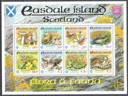Easdale - Scotland 1998 Chile Jamboree Scout Gold O/p Fauna - Flora - Butterflies - MNH(**) - Vignetten (Erinnophilie)