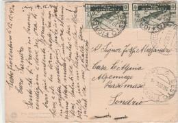 CARTOLINA 1934 CON 2X15 CENT. VALORE MILITARE TIMBRO SESTO FIORENTINO (Z1105 - Poststempel