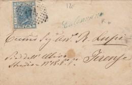 LETTERA 1875 CON 20 CENT. CON RARO TIMBRO CALENZANO FIRENZE (Z1112 - Storia Postale