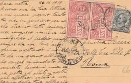 CARTOLINA 1919 CON CENT.15 +2X25 CENT. ESPRESSO (PIEGHETTA VERTICALE) (Z1113 - Poststempel