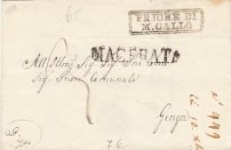 PREFILATELICA 1848 TIMBRO MACERATA -PRIORE DI M.GALLO -ASCOLI (Z1114 - Italia