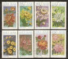 North Vietnam 1974 Mi# 763-770 Used - Chrysanthemums - Vietnam