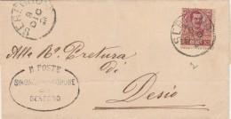 CARTOLINA 1901 CON CENT.10 DECENTRATO TIBRO SEREGNO DESIO (Z1180 - Storia Postale